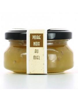 Salsa de queso brie de pera, nuez y miel