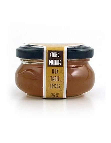 Salsa de queso roquefort, membrillo y manzana con especias