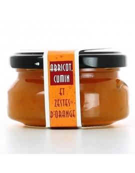 Salsa de queso Camembert albaricoque, comino y naranja