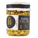 Habitas fritas baby con aceite de oliva