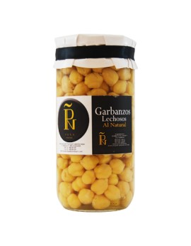 Garbanzos lechosos al natural