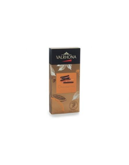 Orangettes noir (Cortezas de naranja) Valrhona