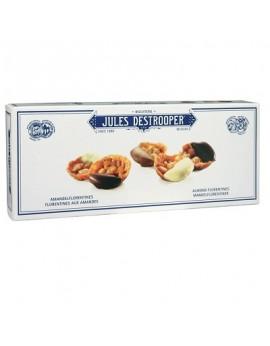 Galletas crujientes de caramelo con almendras bañadas con chocolate belga